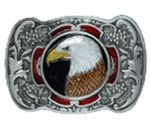 Eagle Head Belt Buckle with display stand. Product code WB4